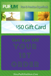 Purium gift card - get your $50 off today